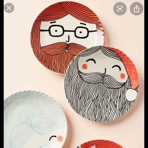 Anthropologie x Krafty K Bearded Man Side Plate